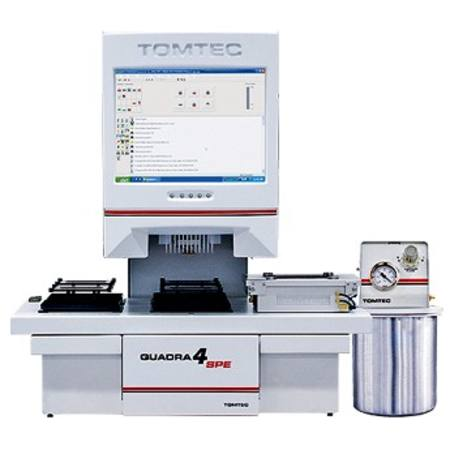 Tomtec Quadra4 automated liquid handling workstation